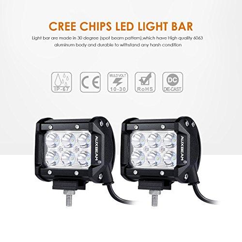 auxbeam 4 u0026quot  led light bar 2pcs 18w led pods 6pcs 3w cree