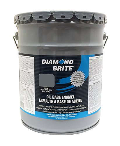 Diamond Brite Paint 31150 5-Gallon Oil Base All Purpose Enamel Paint   Battleship Grey ()