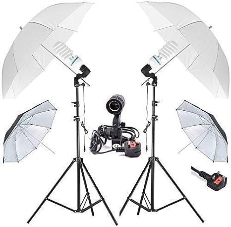 2x 32 Photography Studio Umbrella Photo Lighting Continuous 2 Lights Kit