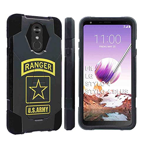 [SlickCandy] LG Stylo 4 / Stylo 4 Plus [Black] Advance Rugged Defender Armor Kickstand Case Feature Hybrid Shell Kickstand for LG Stylo 4LG Stylo 4 Plus [US Army Ranger Print] (Us Army Iphone 4 Case)