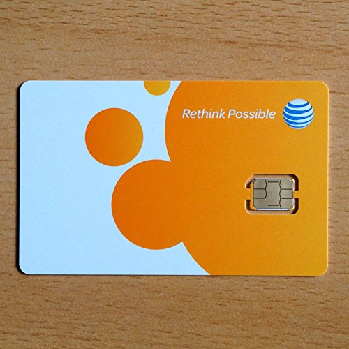 AT&T Nano SIM card (4FF) for iPhone 5, 5C, 5S, 6, 6 Plus, and iPad Air.
