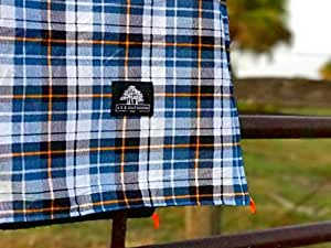 Extra Large Flannel Outdoor Blanket Perfect for Camping, Picnic & the Beach with a Waterproof / Sandproof Backing - Machine Washable!