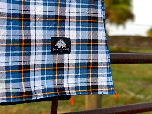 Extra Large Flannel Outdoor Blanket Perfect for Camping, Picnic & the Beach with a Waterproof / Sandproof Backing - Machine Washable! by B E Z Outdoors