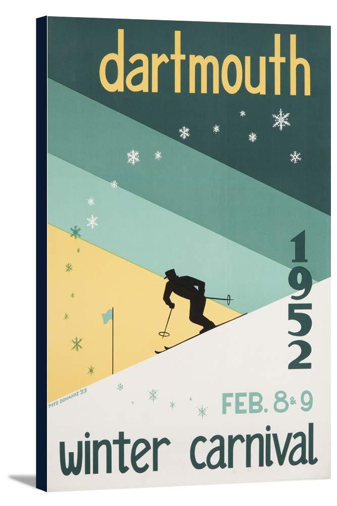 Dartmouth Winter Carnival 1952年ヴィンテージポスター(アーティスト: Dohanos ) USA 23 1/8 x 36 Gallery Canvas LANT-3P-SC-58339-24x36 23 1/8 x 36 Gallery Canvas  B0184APW2S