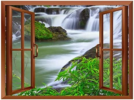 Waterfall in National Park of Thailand Removable Wall Sticker/Wall Mural - 24