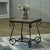 Walcut Living Room Side Table / End Table / Coffee Table with Lower Shelf