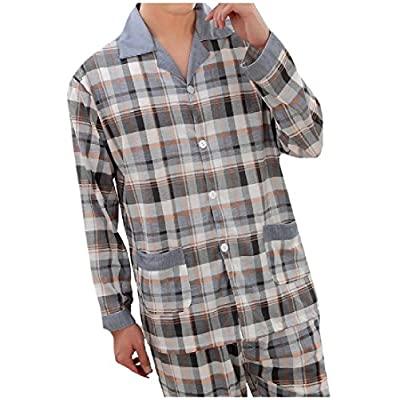 Wholesale Nanquan-men clothes NQ Men's Plus-Size Long-Sleeve Cotton Top and Pant Pajama Set