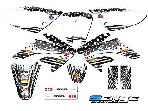 Senge Graphics Kit Compatible with Honda 2004-2010 CRF 80//100 Merica Graphics kit