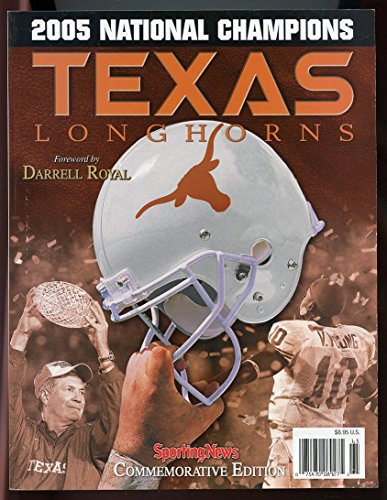 NCAA 2005 National Champions Texas Longhorns Football Commemorative Program GOOD