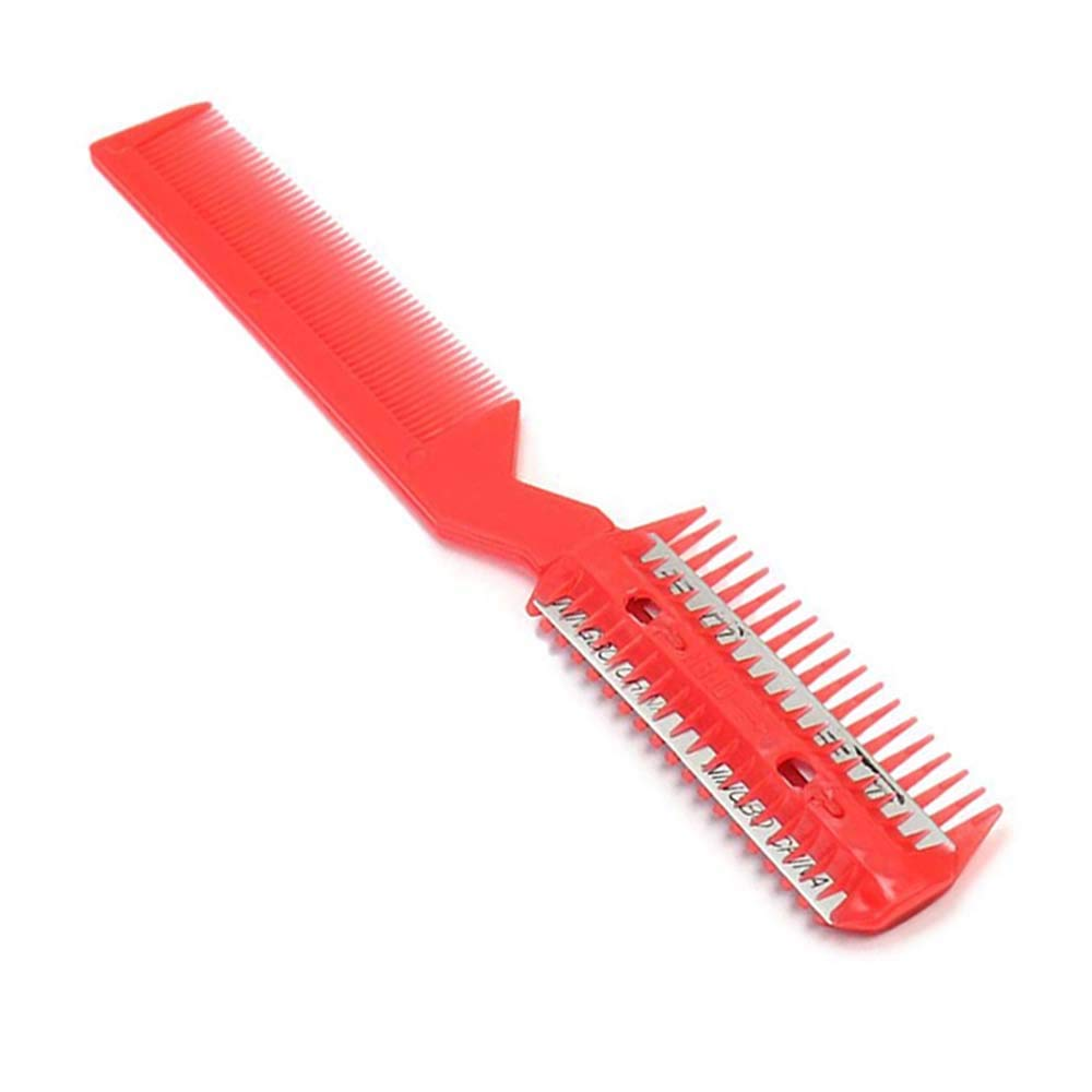 BingQing brand Professional Razor Comb. DIY Professional Scissor Hair Razor Comb Hairdressing Thinning Trimmer--red