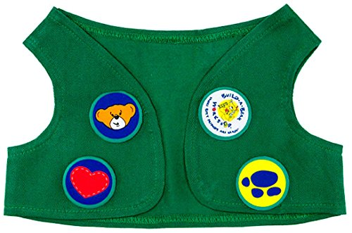 Build a Bear Girl Scouts Green Vest Velcro Badges Teddy Size Outfit