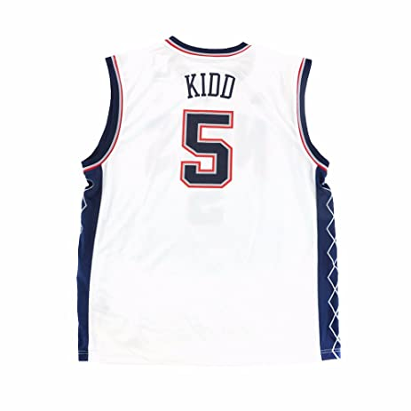 d11b414e032c ... Jason Kidd New Jersey Nets NBA Adidas Mens White Official Replica Jersey  .
