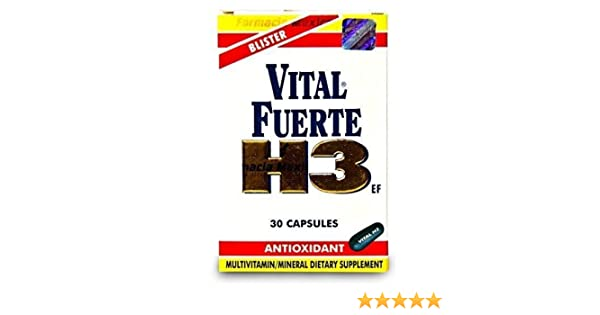 Amazon.com: Vital Fuerte H3 - Multivitamin From Guatemala - 30 Capsules: Health & Personal Care