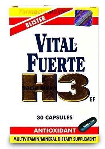 Vital Fuerte H3 - Multivitamin From Guatemala - 30 Capsules