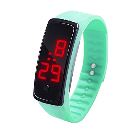 Amazon.com: Frunalte watch, Childrens Watch LED Digital Display Bracelet Watch Students Silica Gel Sports Watch Gift Clearance: Watches