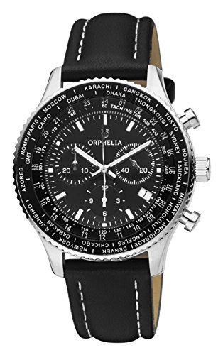 ORPHELIA Master Men's Black Leather watch-OR81705