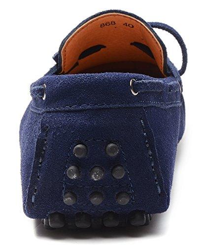 Odema on Azul Ante Casual Zapatillas Slip Shoesd Hombre Profundo De Driving TUprwTWaqR