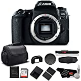 Canon EOS 77D DSLR Camera (Body Only) 24.2 MP CMOS - Standard Bundle - International Version (No warranty)
