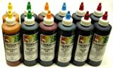 Chefmaster Liqua-Gel Variety Pack, Twelve 10-1/2 Ounce Bottles (6 Colors, 2 of Each)