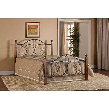 Hillsdale Furniture 1422BQRP Hillsdale Milwaukee Post Queen Bed Textured  Black