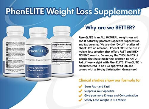 PhenELITE Weight Loss & Appetite Suppressant: Belly Fat Burner & Diet Supplement Pill with Apple Cider Vinegar, Raspberry Ketones & Green Tea Extract - Boost Energy & Concentration - 360 Capsules 7