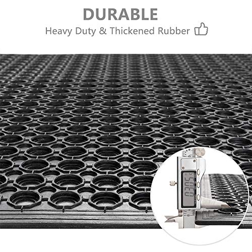 ROVSUN Rubber Floor Mat, 36''x60'' Anti-Fatigue/Non-Slip Drainage Mat, for Industrial Kitchen Restaurant Bar Bathroom, Indoor/Outdoor Cushion by ROVSUN (Image #4)