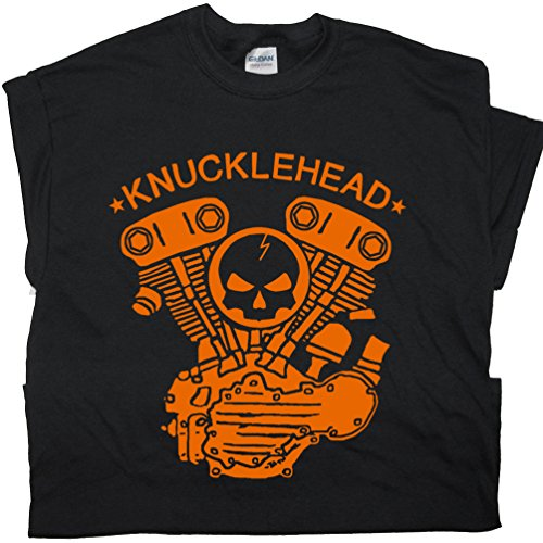 L - Knucklehead Motorcycle Engine T Shirts Harley Biker West Coast Triumph Garage Cool Customs Cycles Davidson Chopper Shirtmandude