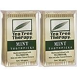 Tea Tree Therapy - Tea Tree & Menthol Toothpicks (100 count) (2-Pack)
