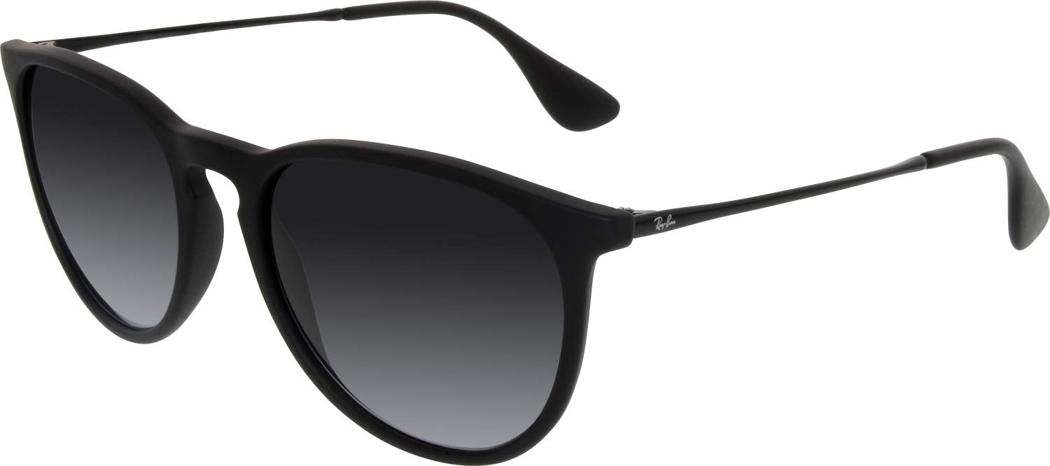 RAY-BAN RB4171 Erika Round Sunglasses, Black Rubber/Grey Gradient, Grey Gradient by RAY-BAN