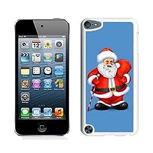 taoyix diy Ipod 5 Cases,Long White Mustache Santa Grandpa White Hard Shell Plastic Apple Ipod Touch 5th Cases