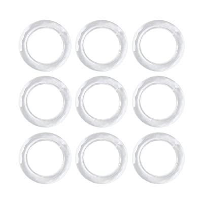 RMISODO 10 Pieces Hanging Ring Chandelier Glass Crystal Lamp Prism Drop Pendant for DIY Home Bedroom Living Dining Room Decoration: Home & Kitchen