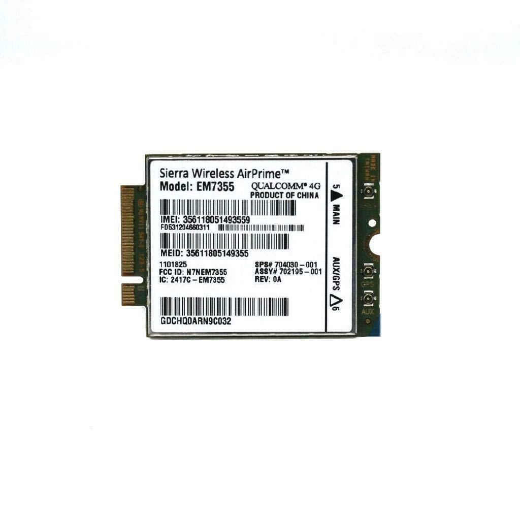 Dell EM7355 Sierra GOBI5000 3G/4G LTE Module NGFF For DELL Venue11 Pro 7130 Wwan Card 2NDHX (Unlocked) by Huasijie