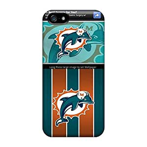 LavernaCooney Iphone 5/5s Perfect Hard Phone Cases Support Personal Customs Fashion Miami Dolphins Skin [yxU18640lOGX]