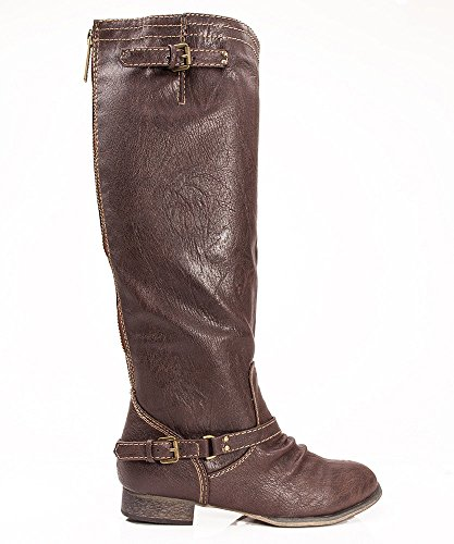 Breckelles Outlaw-81 Women Casual Boots,7.5 B(M) US,Brown-11