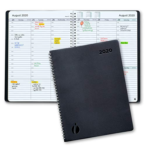 2020 Weekly Planner and Monthly Planner - Hourly Appointment Book 2020 - Softcover, Twin-Wire Binding - Simple Design Inspires Productivity - 6.5x8.5