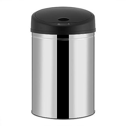 GOTOTOP - Cubo de Basura con Sensor automático de 30 litros de Capacidad, Acero Inoxidable