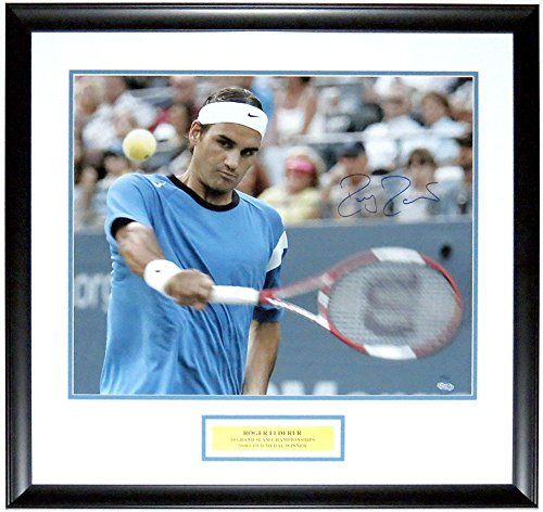 Roger Federer Framed Photo (Roger Federer Signed 16x20 Photo LE#D /50 Steiner Sports Coa Framed Plate)