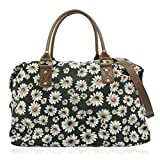 UKFS Designer Nicole Butterfly Patterned Large Canvas Weekend Tote/Shoulder Bag/Holdall