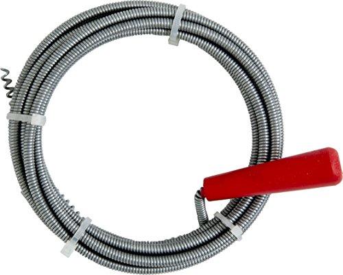 Cornat Rohrreinigungsspirale mit Kurbel und Kralle, Durchmesser 6 mm, 3 Meter, 1 Stück, T595500