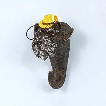 Lindo cachorro montado en la pared Perchero ganchos para ...