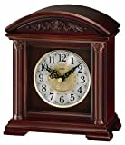 Seiko Desk and Table Clock Brown Wooden Case Plays One of 6 Hi-Fi Melodies