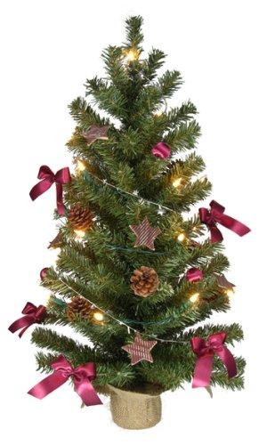 Kunstlicher weihnachtsbaum klein mit lichterkette