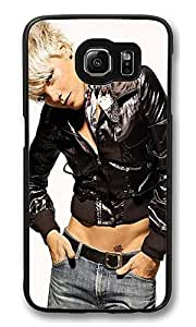 S6 Case, Pink Creativity Ultra Fit Black Bumper Shockproof Case For Galaxy S6 Customizable Hard PC Samsung Galaxy S6