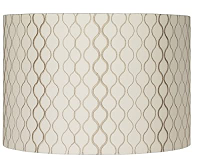 Embroidered Hourglass Lamp Shade 16x16x11 (Spider)