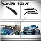 04 f150 top sun visor - D&O MOTOR 5pcs Combo Smoke Tape-On Moon Roof Shield+Sun/Rain Guard Outside Mount Vent Shade Window Visors For 04-08 Ford F-150 SuperCrew/Crew Cab With 4 Full Size Doors