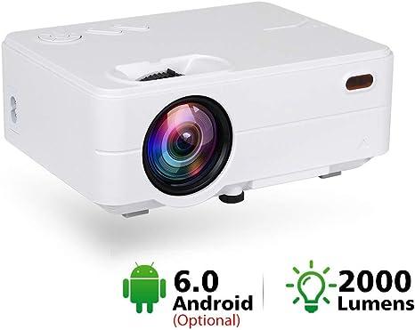 HM2 Proyector WiFi Mini proyector led 2000 lúmenes portátil de ...