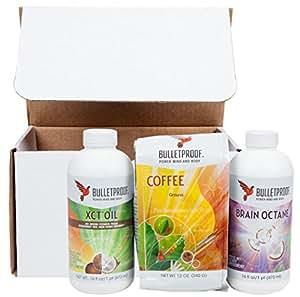 Bulletproof Brain Octane Oil (16 oz), Bulletproof Ground Coffee (12 oz) & Bulletproof XCT Oil (16 oz) Bundle