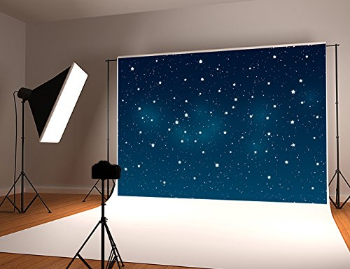 Kate 10x6.5FT Night Sky Photography Backdrops White Bright Stars Background Microfiber Fantasy Photo Studio ()