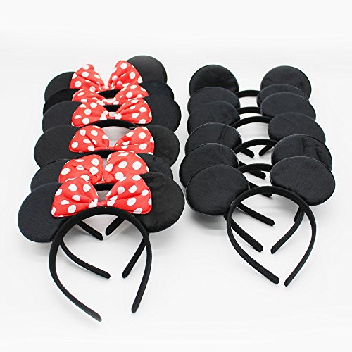 (XKX Mouse Ears Headband For Party,Set Of)
