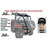 Tusk UTV Rear Bumper, Cargo Rack, and Spare Tire Carrier and Free Unhinged ATV Hat! – Fits: Polaris RANGER RZR S 900 2015–2017